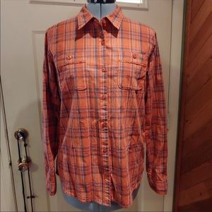Cabela's Orange button up shirt